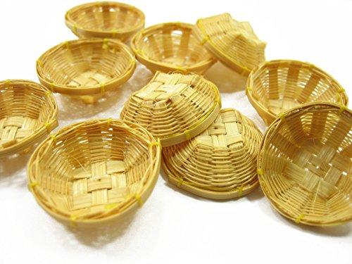 10 Dollhouse Miniature Wicker 3 cm Bread Vegetable Fruit / Crisp Basket 14833