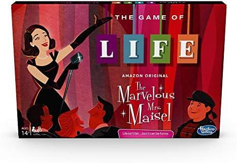[해외]Hasbro Gaming The Game of Life: 놀라운 Mrs. Maisel Edition Board Game; 14세 이상; Amazon Original Prime 비디오 시리즈에서 영감을 받음 / Hasbro Gaming The Game of Life: The Marvelous Mrs. Maisel Edition Board Game; Ages 14 & Up; Ins...
