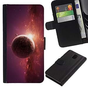 NEECELL GIFT forCITY // Billetera de cuero Caso Cubierta de protección Carcasa / Leather Wallet Case for Samsung Galaxy Note 3 III // RESUMEN DEL PLANETA