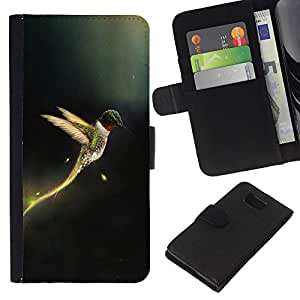 Stuss Case / Funda Carcasa PU de Cuero - ?ngel Dios cristiano Fairytale Black Wings - Samsung ALPHA G850