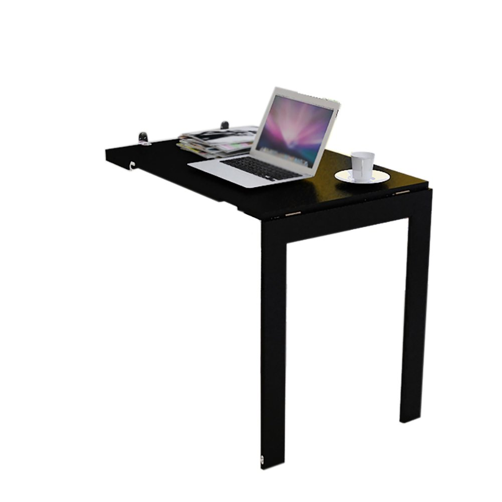 折り畳みテーブル& 壁掛け折り畳み式ダイニングテーブル小型伸縮式家庭用多機能壁テーブル (色 : ブラック, サイズ さいず : 90*60cm) B07F1K6VMBブラック 90*60cm