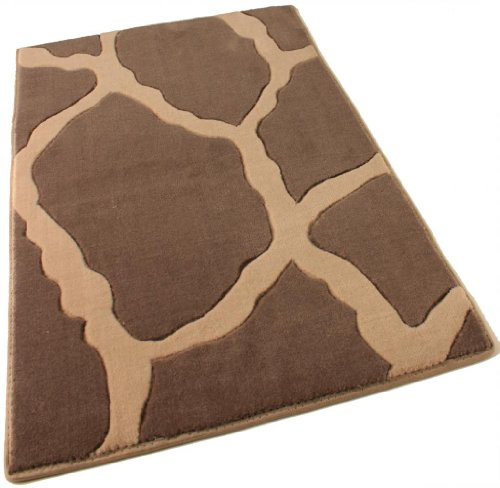 (Runner 2.5'x12' Stones Charcoal Super Soft New Zealand Wool Animal Print Pattern Area Rug for Home with Premium BOUND Polyester Edges.)