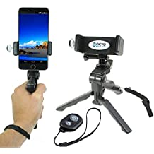 Octo Mount - Universal Cell Phone and GoPro Tripod & Hand Grip Mount with iOS/Android Bluetooth Remote Works with iPhone, GoPro, Android, Samsung, Google Pixel, GoPro and Other Action Cameras.