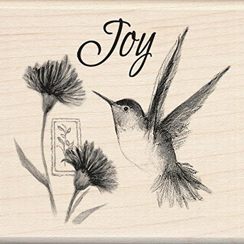 Inkadinkado Wood Stamp, Hummingbird Joy