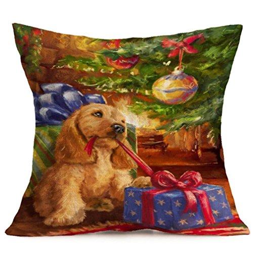 Santa Claus Pitcher (Christmas Pillow Cover 18x18, FreshZone Christmas Santa Claus Decoration Festival Pillow Case Cushion Cover (Xmas Gift F))