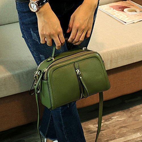 Donna Borsa Crimson Piccola Mini Per Nera Green Lz Pelle In A color Tracolla zqPnYdP