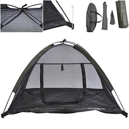 1Pcs Mighty Popular Pet Tent House Puppy Outdoor Camp Kennel Portable Dog Mesh Camping Color (Classic Army Silencer)