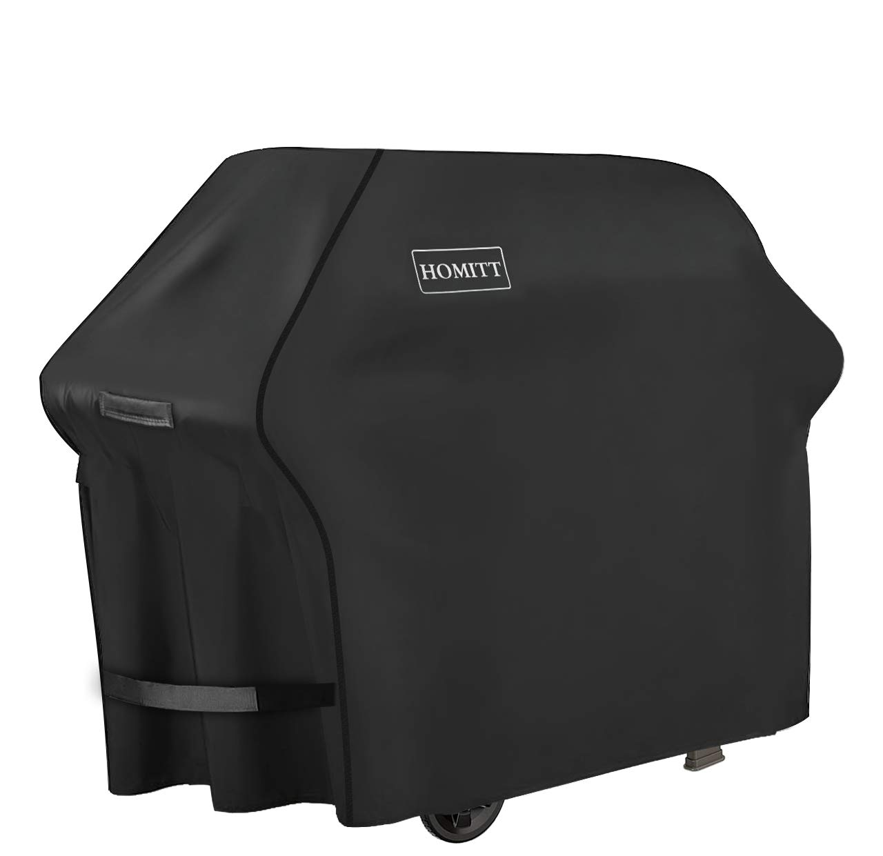 Homitt Gas Grill Cover, 58-inch 3-4 Burner 600D Heavy Duty Waterproof BBQ Cover with Handles and Straps for Most Brands of Grill -Black by Homitt