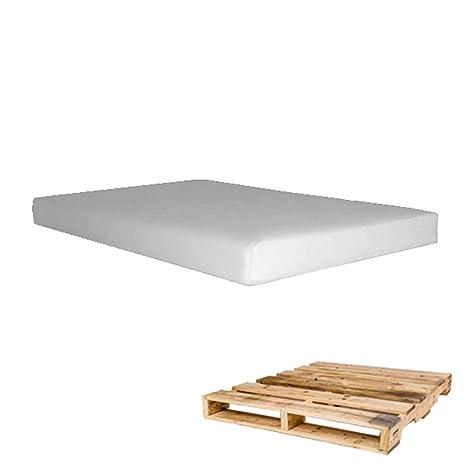 Arketicom Pallett One - Asiento Cojin para Sofa hecho en Euro Palet - Polipiel con Funda