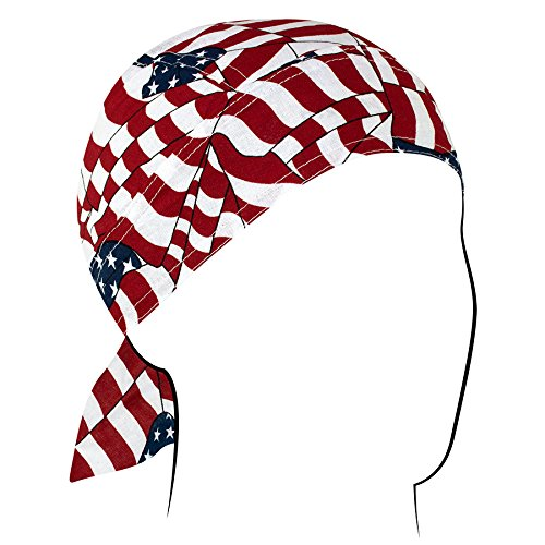 Zanheadgear Z265 Flydanna Bandanna, 100% Cotton, Wavy American Flag