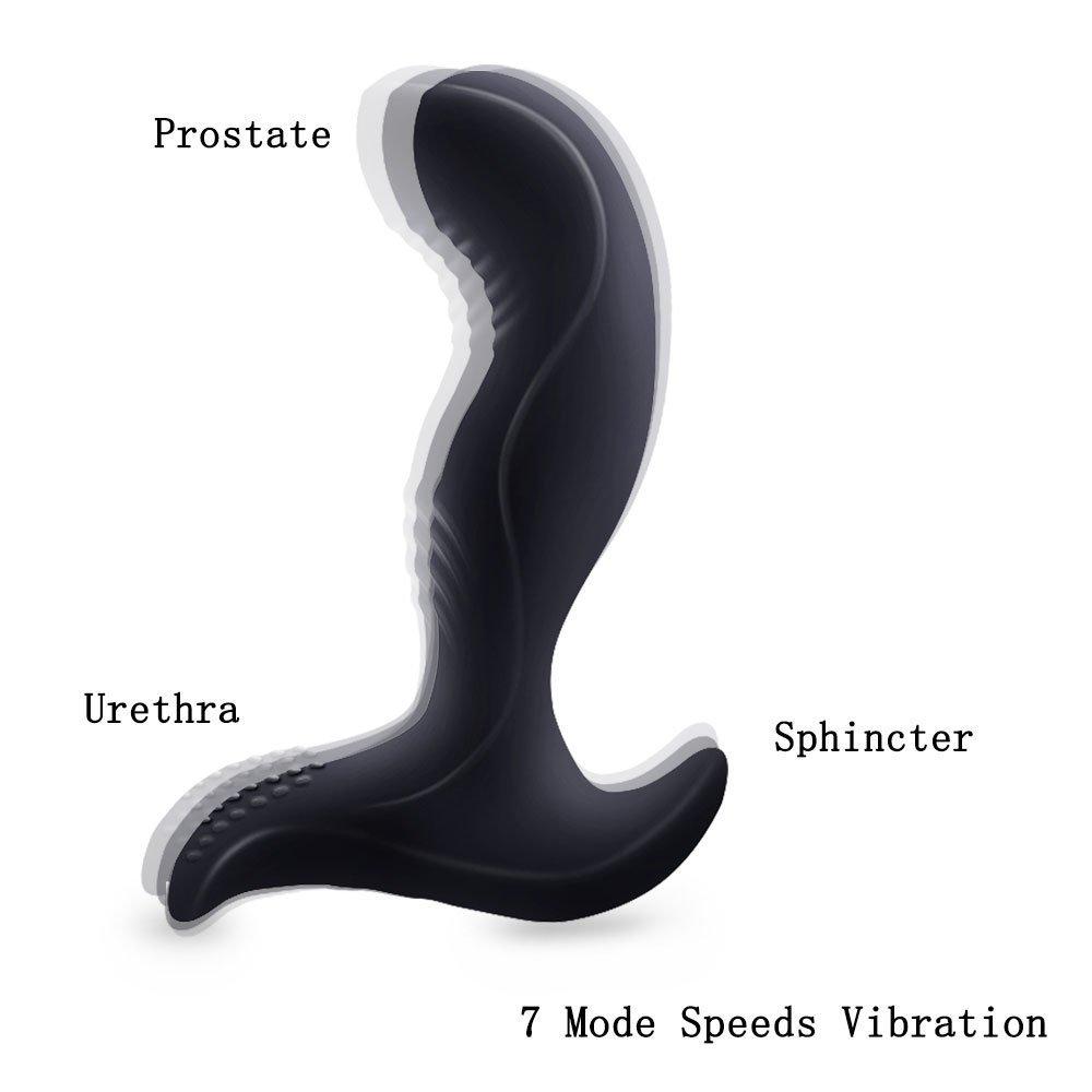 Wireless Remote A`ņäl Vį`bŗãtor 7 Speeds Backcourt Vibration Massage Bu-ťťe Plug Vį`bŗãting Male for Men