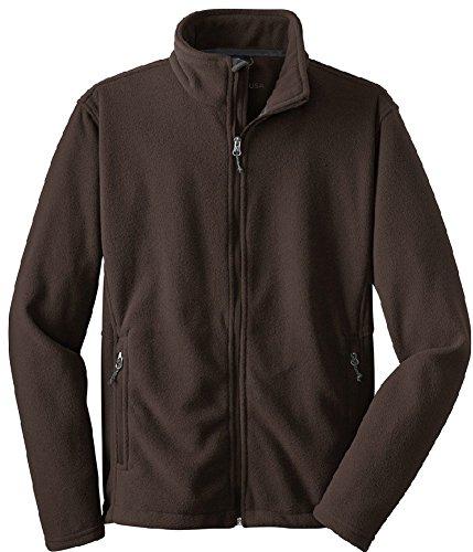 Joe's USA tm - Mens Soft Midweight Fleece Jacket, 2XL Chocolate by Joe's USA