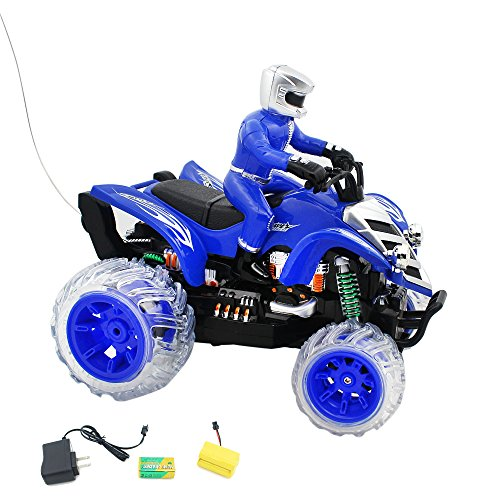 Off Road Rider All Terrain Vehicle RTR RC ATV, Remote Control (RC) Stunt Performing Colorful lights and Music Motorcycle for Kids