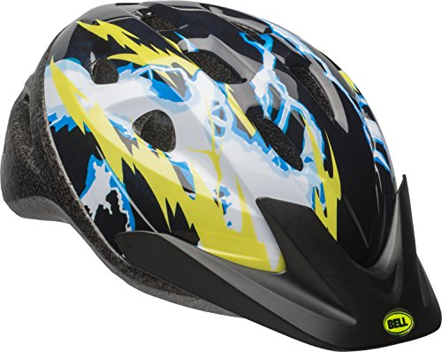 Bell 7084243 Child Rally Bike Helmet - Lightning Black & Yellow]()