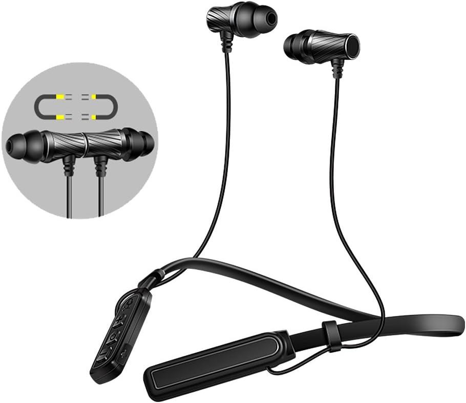 Auriculares Bluetooth Deportivos, Inalámbricos Magnético écouteur Bluetooth 4.1 In-Ear HiFi Estéreo Cancelación de Ruido Sweatproof IPX4 para iPad, iOS, Android Smartphones