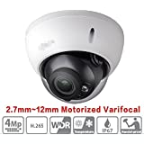 Dahua HDBW4433R-ZS 2.7mm~12mm 4MP Varifocal Motorized Zoom IP Camera H.265 PoE IP67 ONVIF Dome Network Camera International Version