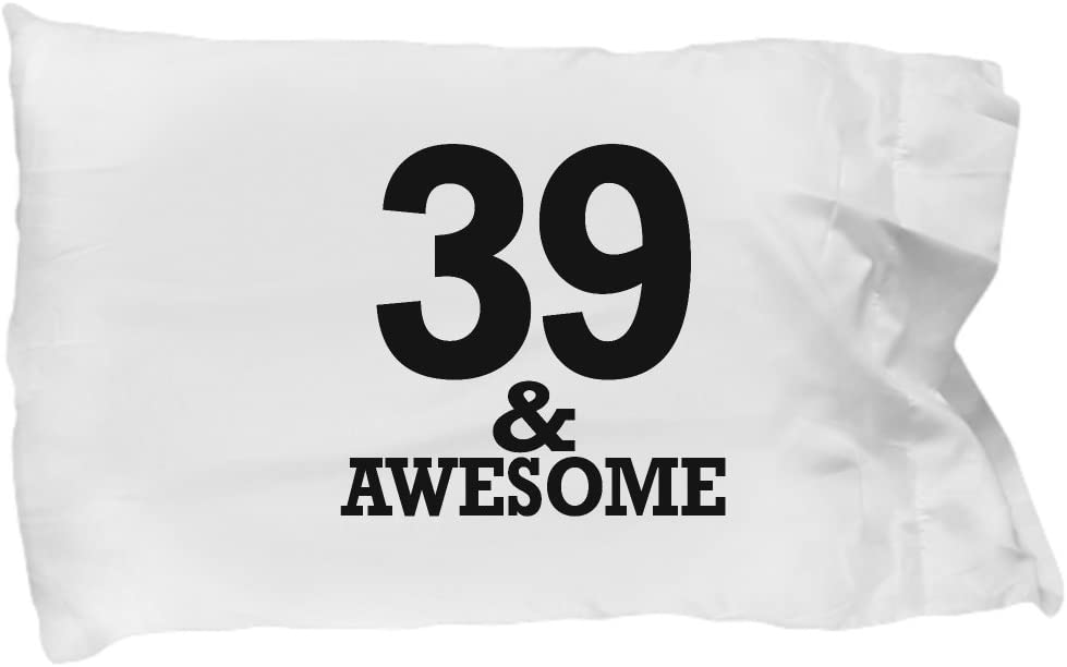 DesiDD Gifts for 39 Year Old Man Pillow Case - Awesome 39th Birthday Ideas for Men - 1979 Anniversary for Him Dad Husband Brother in Law Coworkers Uncle