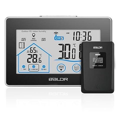 Amazon.com : Weather Station, Digital Indoor Outdoor ...
