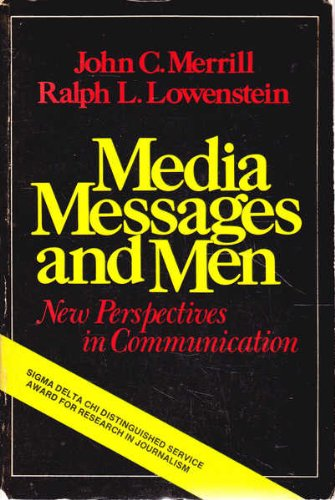 Media Messages and Men, New Perspectives in Communication