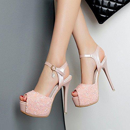 diamante d'accordo centimetri scarpe trentaquattro tacchi sandali di di con dodici summer i principessa white GTVERNH spessore alti ultra taiwan scarpe parola sexy tutti impermeabile con con uno Rw6Uv