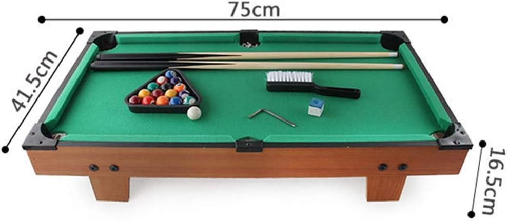 Billar Snooker plegable Miniatura de billar con bolas de piscina Mini Cue Sticks Accesorios for adultos Niños de escritorio en miniatura mesa de billar Conjunto Mini-piscina mesa de billar mesa de jug: