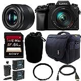 Panasonic Lumix DMC-G7 Mirrorless Digital Camera w/ 14-140mm & 25mm Lens Bundle