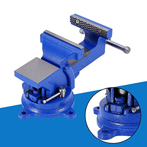 4'' 100mm Heavy Duty Bench Vice Anvil Swivel Locking Base Table Top Clamp Base for home handyman by Heaven Tvcz (Image #5)