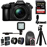 Panasonic LUMIX G85MK 4K Mirrorless Kit, 12-60mm Lens, Sandisk 64GB, 2 Spare Batteries, Charger, Bag, MIC