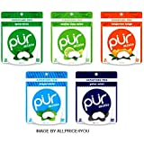 Pur Mints 5 Flavor Variety Pack - Tangerine Tango, Mojito Lime Mint, Polar Mint, Peppermint & Spearmint - 20 Pieces Each