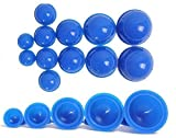 12 Cups Silicone Medical Vacuum Massage Cupping Cups Health Care Travel Set (Blue)