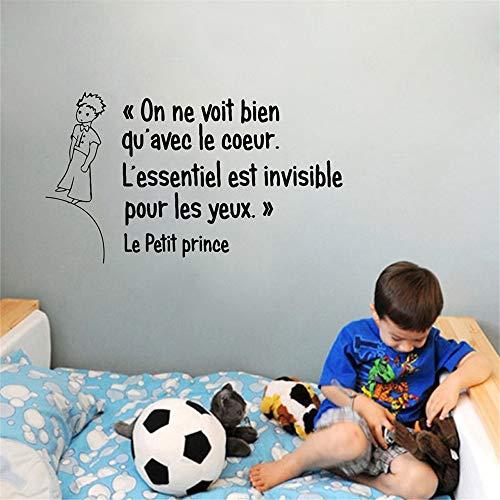 Anyet Removable Wall Decals Inspirational Vinyl Wall Art French Quote On Ne Voit Bien Qu'Avec Le Coeur for Living Room Bedroom (On Ne Voit Bien Qu Avec Le Coeur)