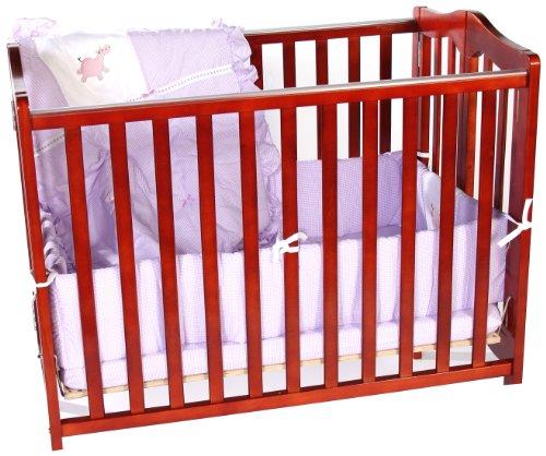 Baby Doll Bedding Gingham Cradle Bedding Set, Lavender by BabyDoll Bedding