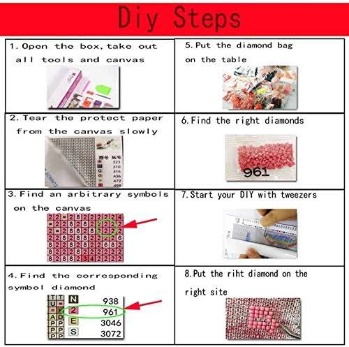 DIY 5D Diamond Schilderen Volledige Kits Diamond Art Cross Stitch Kit Strass Arts Y2 Leuke Muis Vierkante Boor,90x120cm Handgemaakte Borduurset Mozaïek voor Thuis Muur Decor