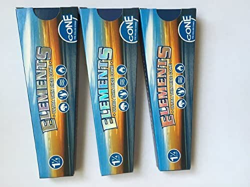 Elements Pre Rolled Cones - 1 1/4-3 Packs of 6 = 18 Cones + Limited Edition Beamer Smoke Sticker