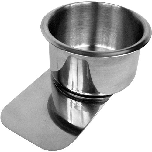Trademark Jumbo Stainless Steel Slide Under Cup Holder (Silver)