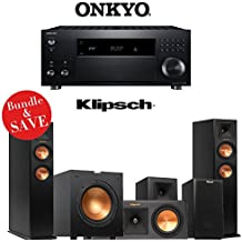 Onkyo TX-RZ800 7.2-Channel Dolby Atmos Ready Network A/V Receiver + A Klipsch Reference Premiere 5.1 Home Theater Bundle (RP-250F + RP-250C + RP150M + R-10SW)