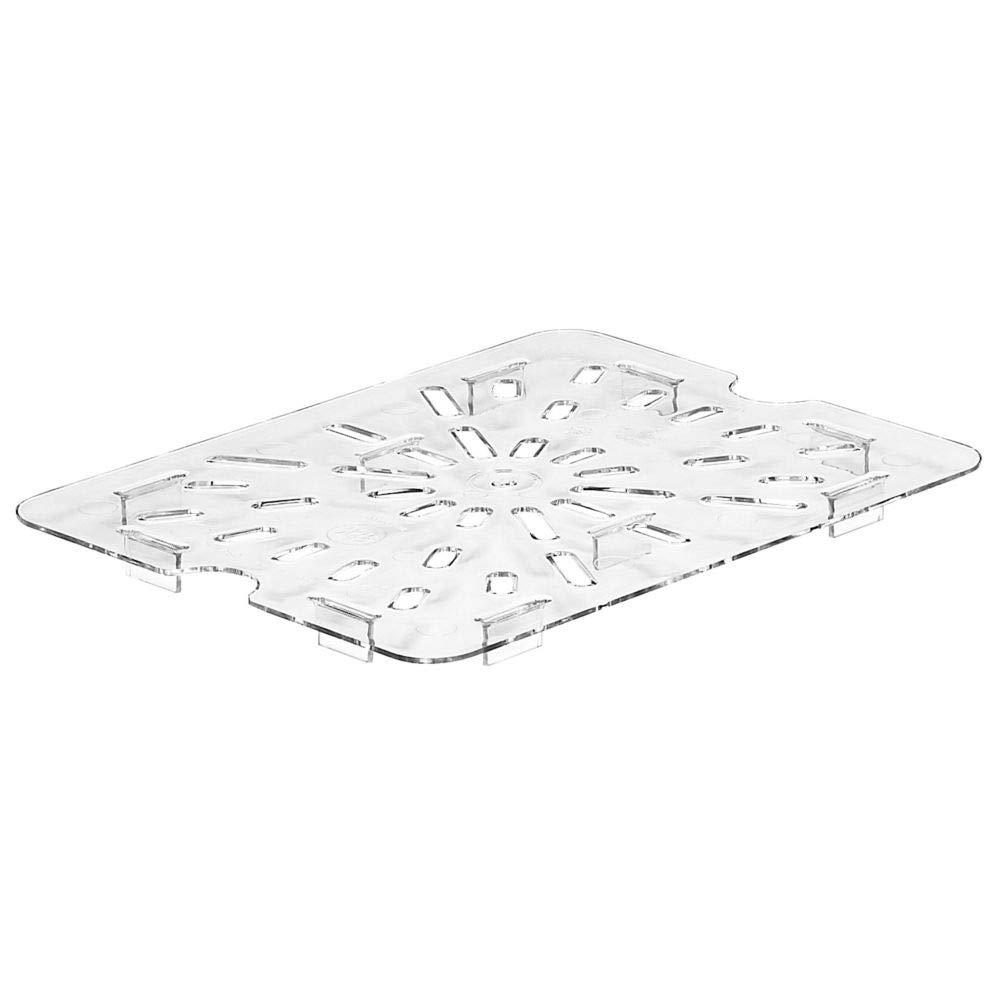 Cambro 300780802 Clear Camwear Drain Shelf for Half Size Food Pans