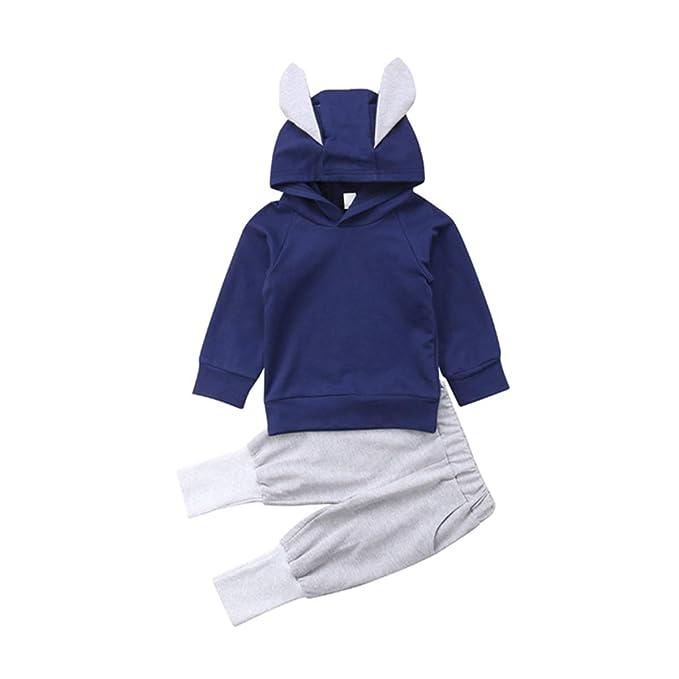 Amazon.com: Conjunto de sudadera de algodón para bebé ...