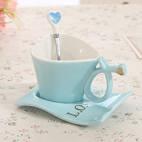 Yanluzz1Pc Creative Cute Heart-Shaped Mug Mug Milk Ceramic Coffee Cup Holiday Drink Gift A