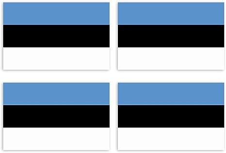 Kiwistar Aufkleber 4 5 X 2 9 Cm Estland Land Staat Autoaufkleber Flagge Länder Wappen Fahne Sticker Kennzeichen Auto