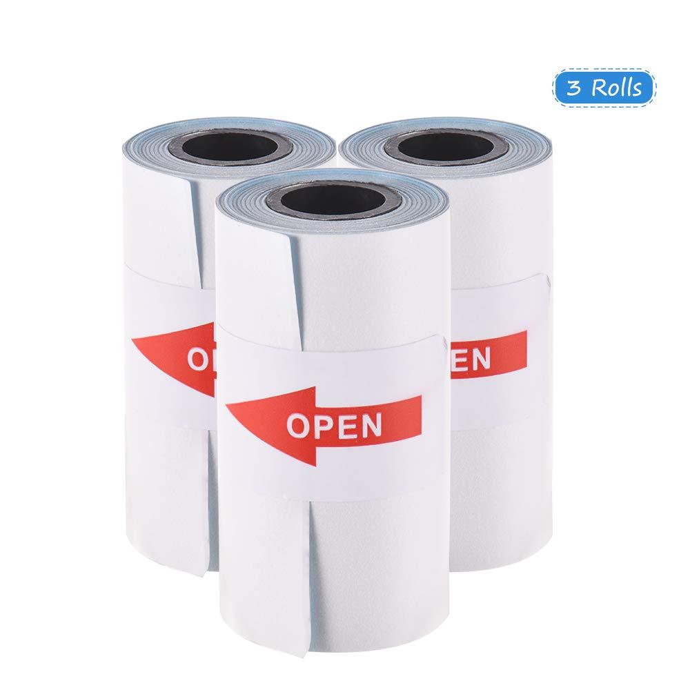 2,17 * 1,18 pollici per PeriPage A6 Stampante termica tascabile per stampante fotografica mini PAPERANG P1 Aibecy Adesivo a colori Carta termica con rotolo di carta con autoadesiva 57 30mm P2