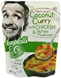 Campbell's Go Soup, Coconut Curry with Chicken and Mushroom - Juicy chunks of chicken in a silky, coconut curry broth with generous slices of shiitake mushrooms.