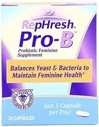 RepHresh Pro-B Probiotic Feminine Supplement, 60-Count Pack (y3skj9)