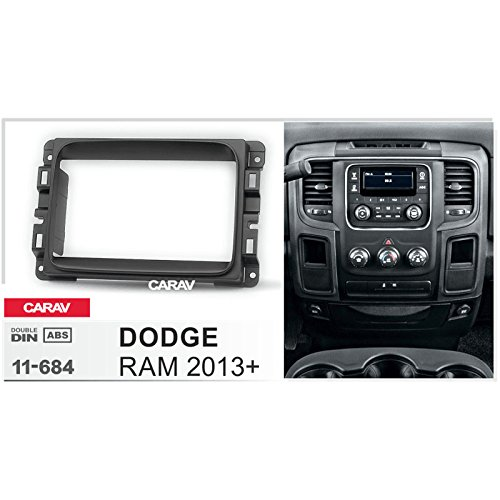 Carav 11-684 Double din dash kit car dash kit Radio Stereo Face Facia Fascia Panel Frame DVD Dash Stereo Install Kit for DODGE RAM 2013+ with 17398mm