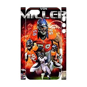 3D Yearinspace Von Miller Denver Broncos For SamSung Galaxy S3 Phone Case Cover Boys, Cell For SamSung Galaxy S3 Phone Case Cover [White]