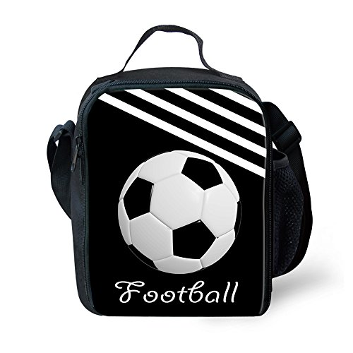 Infantil De Showudesigns Con Tennis Térmico Bolsa personalizable Soccer Almuerzo Poliéster Aislamiento Small ESdFqnxwY