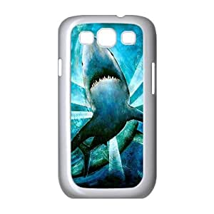 JFLIFE Deep Sea Shark Phone Case for samsung galaxy s3 White Shell Phone [Pattern-1]