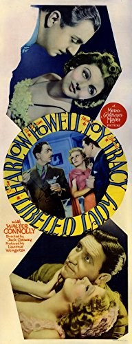 LIBELED LADY (1936) Insert poster ft. Jean Harlow, William Powell, Myrna Loy, Spencer Tracy / MGM screwball comedy, paper-backed - Jean Harlow William Powell
