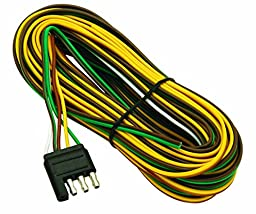 Wesbar 707261 Wishbone Style Trailer Wiring Harness with 4-Flat Connector