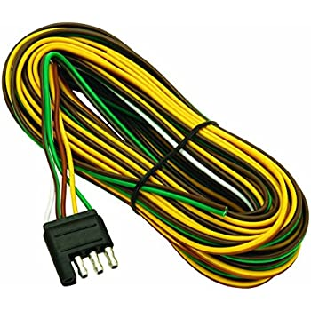 51vwx444X6L._SL500_AC_SS350_ amazon com hopkins 48245 4 wire flat 20' trailer end y harness Trailer Wiring Connector at bayanpartner.co